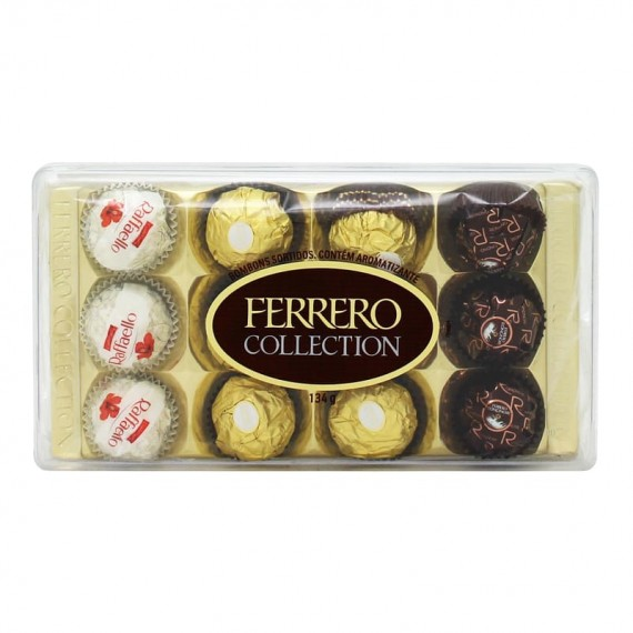 Chocolate Ferrero Rocher Colection Caixa com 12 unidades