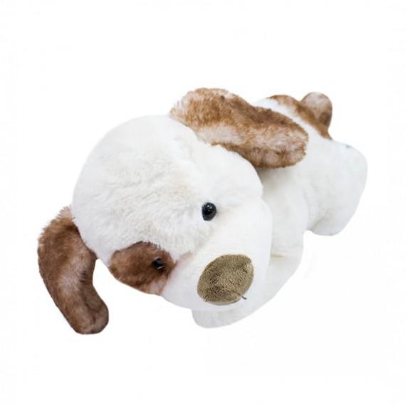 White Plush Dog - 33 cm long (lying down)