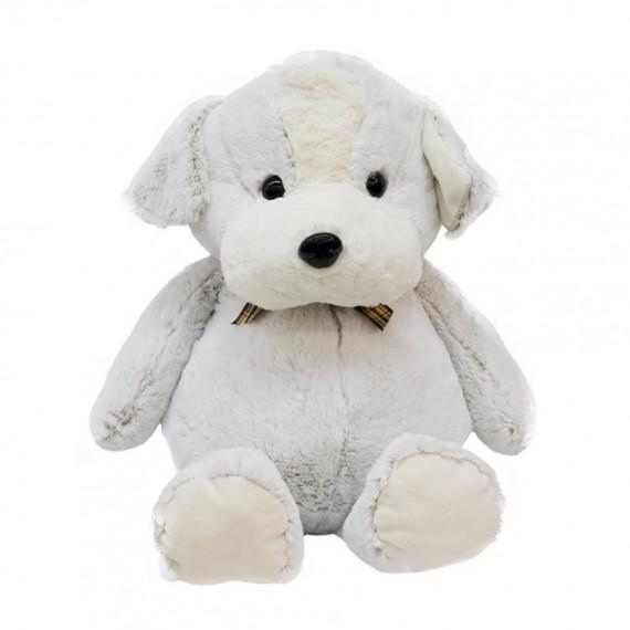 Cachorro Branco Com Laço 45cm