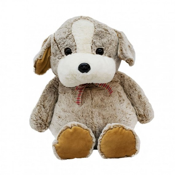 Brown Dog With Bow - 45cm