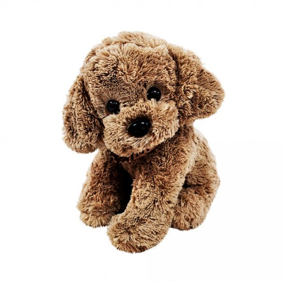 Brown Plush Dog with Neck Scarf - 34 cm