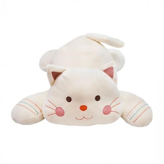 Beige Cat Lying 47cm length - Plush