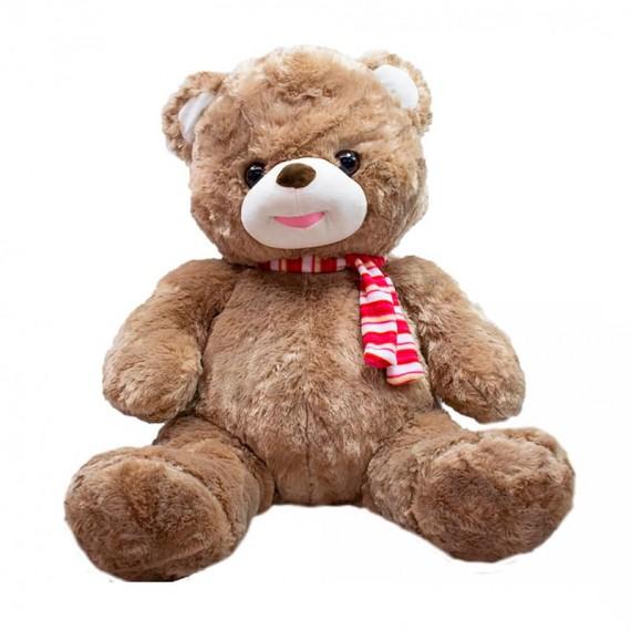 Brown Teddy Bear with Scarf - 48 cm
