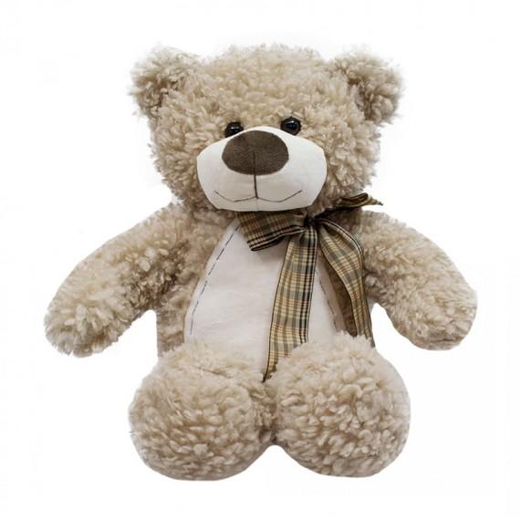 Brown Teddy Bear with Bow - 34 cm