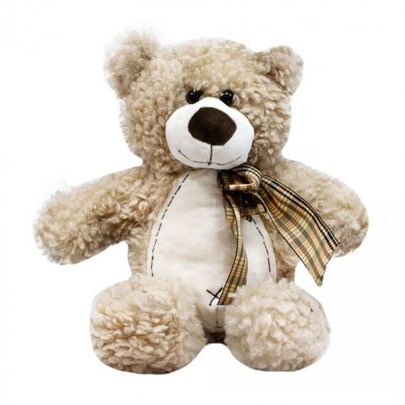Brown Teddy Bear with Bow - 26 cm