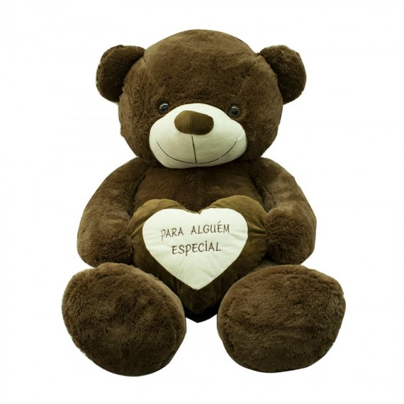 """Brown Teddy Bear with Heart """"For Someone Special"""" - 65cm"""