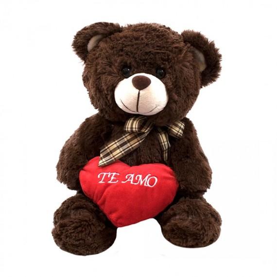 Brown Teddy Bear with Heart I Love You - 30 cm
