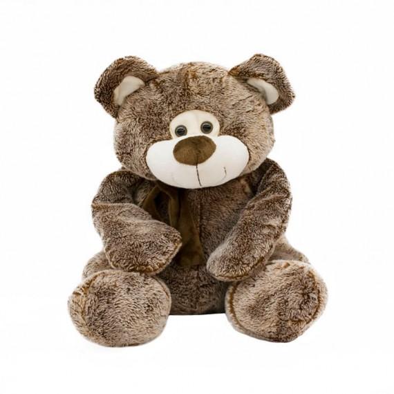 Urso de Pelúcia Marrom Com Laço - 36cm