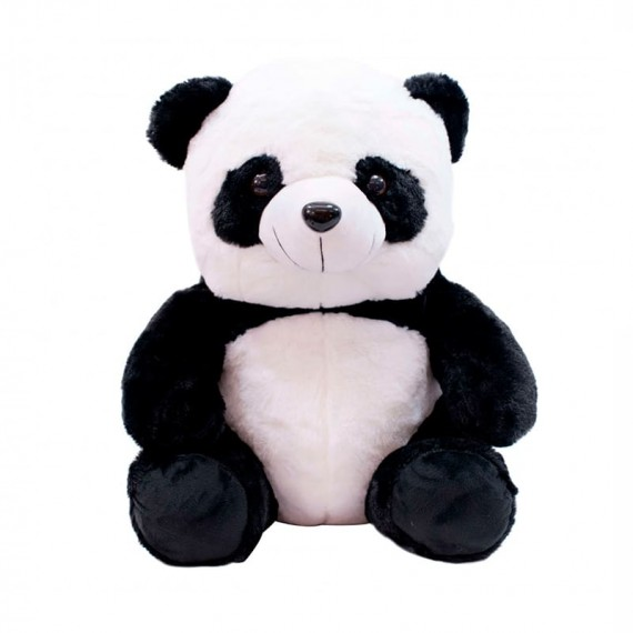 Urso Panda de Pelúcia Sentado - 42 cm