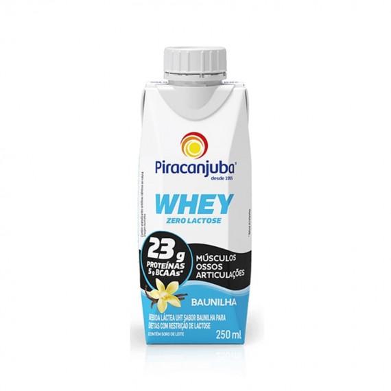 Bebida Láctea Piracanjuba Zero Lactose Whey Baunilha 250ml
