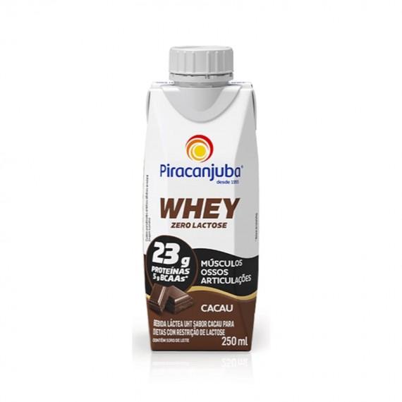 Bebida Láctea Piracanjuba Zero Lactose Whey Cacau 250ml