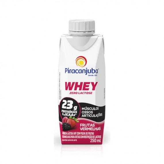 Bebida Láctea Piracanjuba Zero Lactose Whey Frutas Vermelhas 250ml