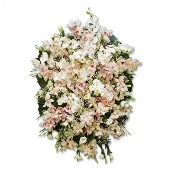 Coroa de Flores de Orquídeas Encanto